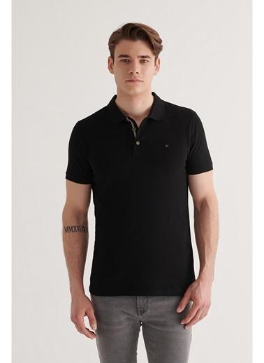 Avva Erkek  Polo Tişört A11B1174 Siyah